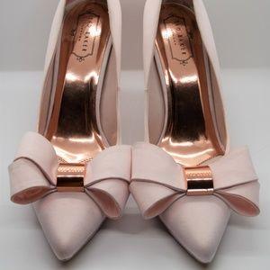 Ted Baker - Satin Light Pink - Bow Heels